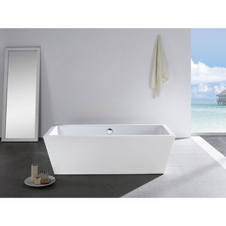 Wynn 65-inch x 31-inch White Rectangle Soaking Bathtub