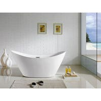 Riviera 67-inch x 28-inch White Oval Soaking Bathtub