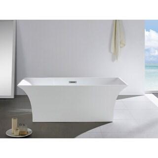 Palazzo 66-inch x 31-inch White Rectangle Soaking Bathtub