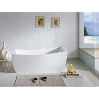 Luxor 66-inch x 31-inch White Rectangle Soaking Bathtub