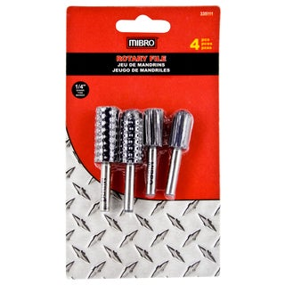 "Mibro 335111 4 Piece 1/4"" Rotary File Set"