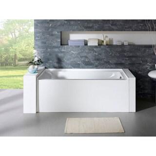 delano 59inch x 32inch white rectangle alcove soaking bathtub right