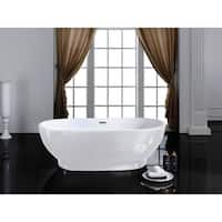 "Cromwell 67"" x 32"" White Oval Soaking Bathtub"