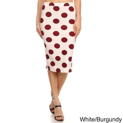 MOA Collection Polka Dot Pencil Skirt