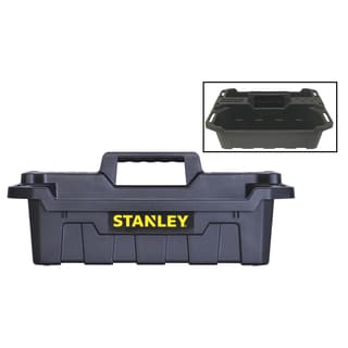 "Stanley STST41001 19.34"" X 13"" X 7.6"" Black Portable Storage Tote Tray"