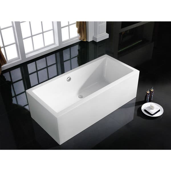 Caesar 60 X 31 White Rectangle Soaking Bathtub Overstock 11636307