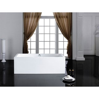 Caesar 60-inch x 31-inch White Rectangle Soaking Bathtub