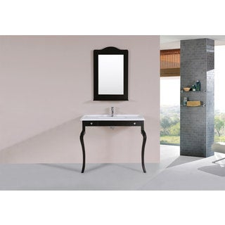 40-inch Marina Espresso Single Traditional ADA Vanity with Integrated Sink