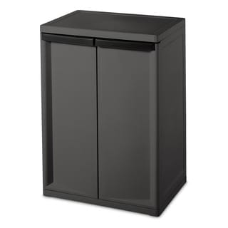 Sterilite 01408501 Heavy Duty 2 Shelf Cabinet