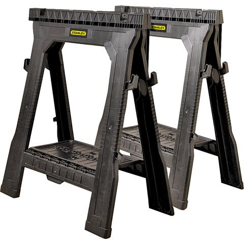"Stanley Storage 060864R 31.5"" Folding Sawhorse 2-count"