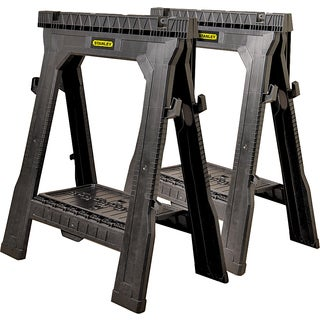 "Stanley Storage 060864R 31.5"" Folding Sawhorse 2-count"