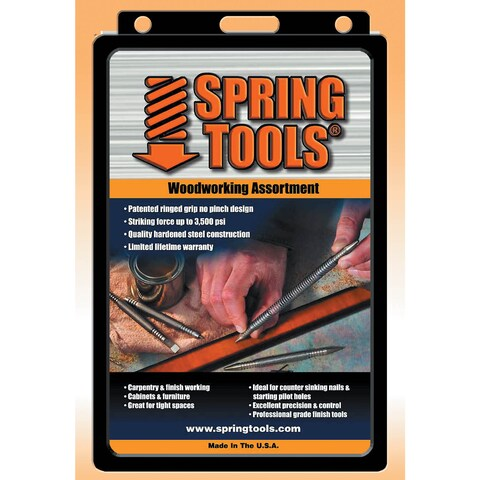 Spring Tools WWA1105 5 Piece Center Punch, Nail Setter and Wood Chisel Set