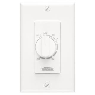 Broan P59W White 60 Minute Fan Control Timer Switch