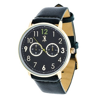 Brooklyn Exchange Men's Gold Case and Green Dial with Green Leather Strap Watch