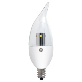 GE Lighting 89949 4 Watt Clear Bent Tip Energy Smart Bulb With Candelabra Base