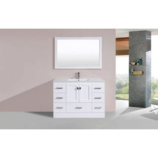 48-inch Redondo White Single Modern Vanity with Integrated Sink