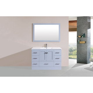 48-inch Redondo Grey Single Modern Vanity with Integrated Sink