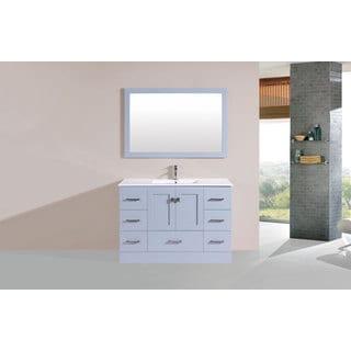 48-inch Redondo Grey Single Modern Vanity with Integrated Sink