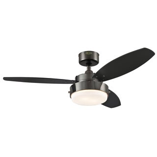 "Westinghouse 7876400 42"" Gun Metal Three Blade Reversible Ceiling Fan With Light