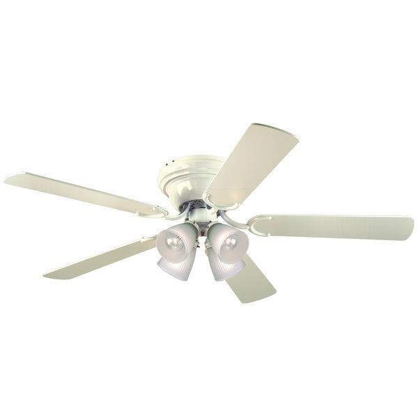 Westinghouse 7871500 52 White Five Blade Reversible Ceiling Fan With Lights