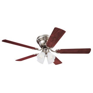 "Westinghouse 7861600 52"" Brushed Nickel Contempra Four Light Ceiling Fan"