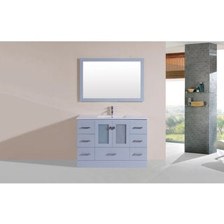 48-inch Hermosa Grey Single Modern Vanity with Integrated Sink