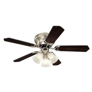 "Westinghouse 7861500 42"" Brushed Nickel Five Blade Indoor Ceiling Fan With Lights"