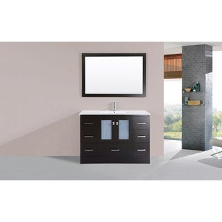 48-inch Hermosa Espresso Single Modern Vanity with Integrated Sink