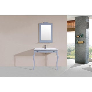 40-inch Marina Grey Single Traditional ADA Vanity with Integrated Sink
