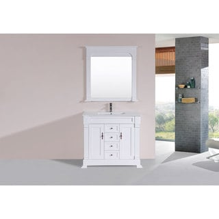40-inch Balboa White Single Traditional Vanity with Integrated Sink