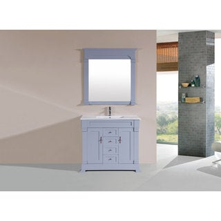 40-inch Balboa Grey Single Traditional Vanity with Integrated Sink