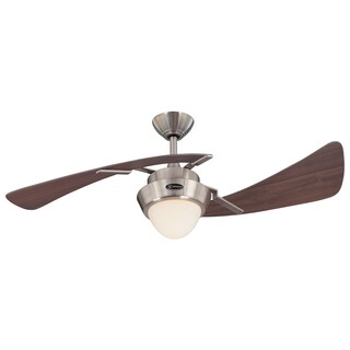 "Westinghouse 7214100 48"" Brushed Nickel & Maple Plywood Two Blade Ceiling Fan"