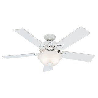 "Hunter 53251 52"" White Ceiling Fan With Light"