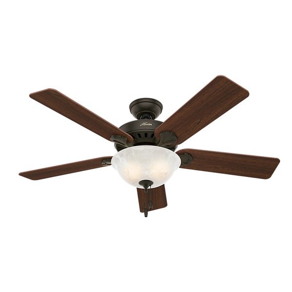 "Hunter 52 Chatham New Bronze Ceiling Fan With Light At: Shop Hunter 53250 52"" New Bronze Ceiling Fan With Light"