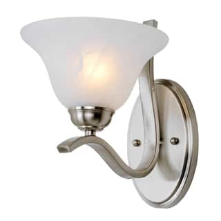 "Bel Air Lighting CB-2825-BN 10"" Brushed Nickel Pine Arch Wall Sconce