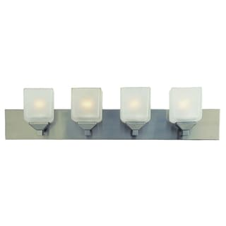 Bel Air Lighting CB-2804-PW 4 Light Pewter Cube Bath Bar