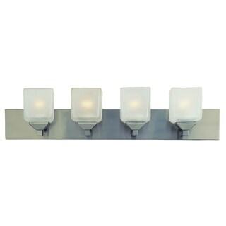 Bel Air Lighting CB-2804-PW 4 Light Pewter Cube Bath Bar