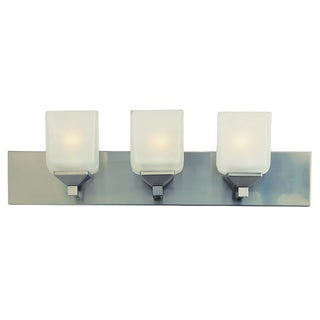 Bel Air Lighting CB-2803-PW 3 Light Pewter Cube Bath Bar