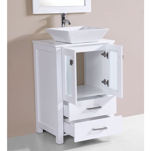 Shop 24 Inch Newport White Single Modern Bathroom Vanity With