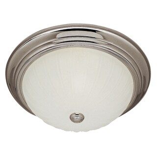 "Bel Air Lighting CB-13211-1BN 11"" Classic Melon Flushmount Fixture"