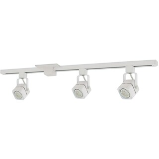 Liteline Corporation 71250-90344 4' White Apollo Three Head Track Lighting Fixture