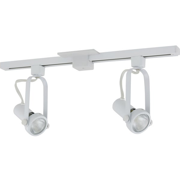 Shop liteline corporation 71250 80019 2 white athena two head track liteline corporation 71250 80019 2x27 white athena two head track lighting fixture aloadofball Image collections