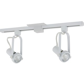 Liteline Corporation 71250-80019 2' White Athena Two Head Track Lighting Fixture