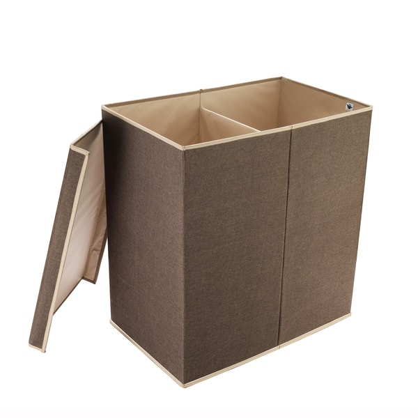 Brown Laundry Hamper With 2