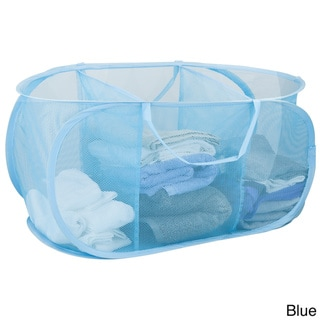 Sunbeam 3-Compartment Mesh Laundry Sorter with Handles
