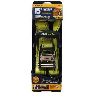 Allied International 84005 1.5-inch X 15' Neon Green Heavy Duty Wide Grip Ratchet Tie Down
