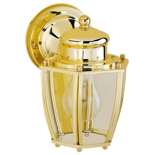 Westinghouse 1 lights Polished Brass Outdoor Wall Lantern