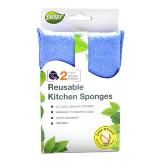 Smart 10037 4 x 3-inch Reusable Kitchen Sponge (Count of 2)