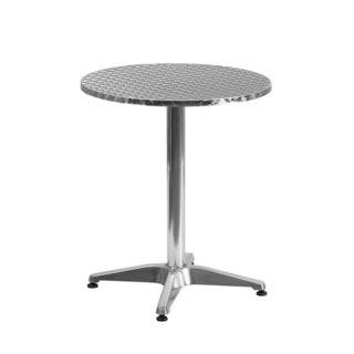Offex Round Aluminum Indoor-outdoor Table with Base
