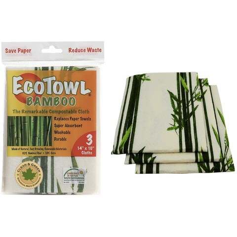 Pacific Dry Goods ETB EcoTowel Bamboo Compostable Cloth 3-count